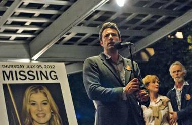 Ben Affleck pleads for his wife's return in David Fincher's Gone Girl.