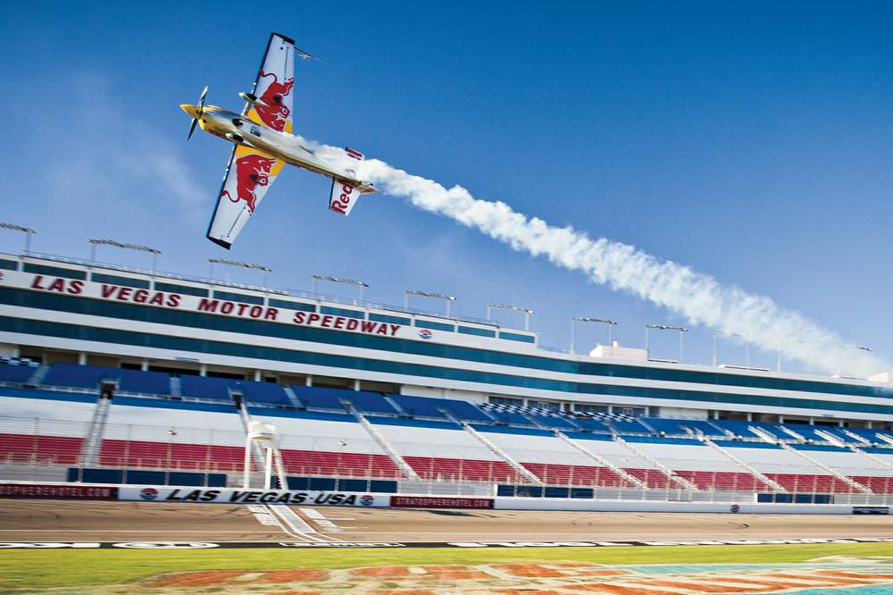 The ride of a lifetime inside a red bull air race plane for How long is las vegas motor speedway