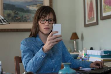 Jennifer Garner's character stalks her own daughter's every move online. Creepy.