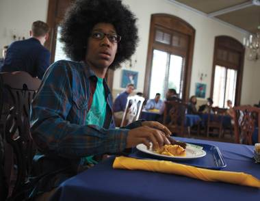 Tyler James Williams has trouble fitting in in Dear White People.