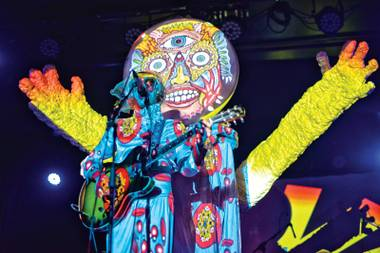 Projecting confidence: Of Montreal brought its trippy road show to town Saturday night.