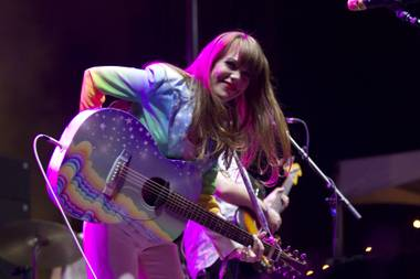 Jenny Lewis performs at Life is Beautiful on October 24, 2014 in downtown Las Vegas.
