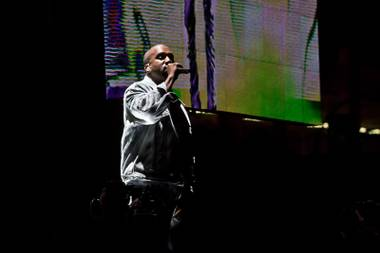 Kanye West closes night one of the 2014 Life Is Beautiful music festival in Downtown Las Vegas, Friday Oct. 24, 2014.