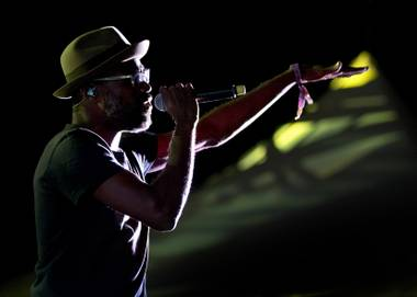 TV on the Radio frontman Tunde Adebimpe, performing Saturday at Life Is Beautiful.