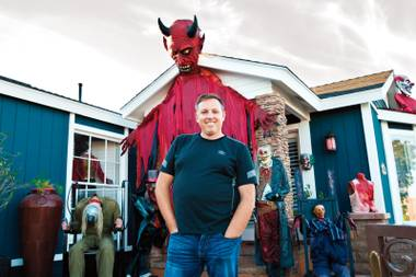 Jarrod McClung transforms his Downtown home into a makeshift haunted house for Halloween.