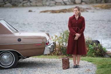 Look out: Olive Kitteridge (Frances McDormand) is upset about something.