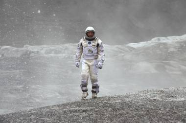 Interstellar turns out to be less hard-headed than soft-hearted, a sci-fi epic about how, like, all you need is love, man.