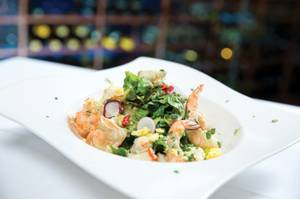The Fish House's chef's seafood salad is a magnificent meal by itself.