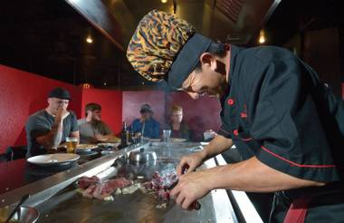 Veteran chef Tsutomo Molde's just-off-Strip Japanese steakhouse draws a diverse, very Vegas crowd.