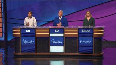 The next Ken Jennings? Foster thinks Jeopardy! has been dumbed down recently.