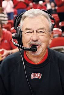 Dick Calvert is in his 44th season announcing UNLV Runnin' Rebel games.