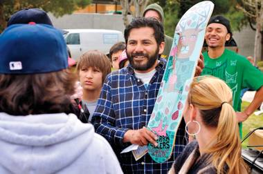 The program places local youth from single-parent and low-income homes on skate teams, pairing them with adult skate mentors.