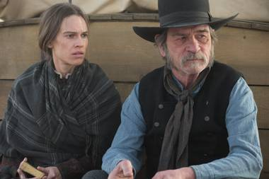 Hillary Swank and Tommy Lee Jones in The Homesman