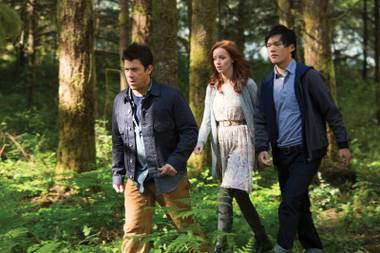 Christian Kane, Lindy Booth and John Kim (from left) are the new Librarians.