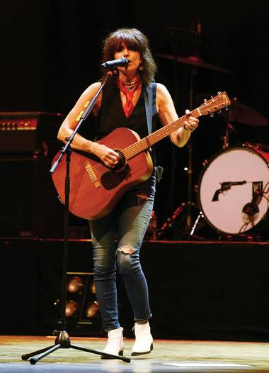 She played plenty from her first-ever solo record during the November 28 concert at the Palms.
