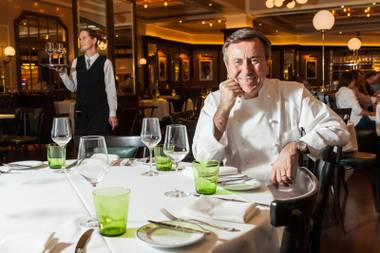 Daniel Boulud couldn't be happier to be back on the Las Vegas Strip. He opened DB Brasserie at Venetian this year.
