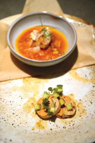 Chef Brian Lhee's monkfish duo wowed at this month's Yusho After Dark.