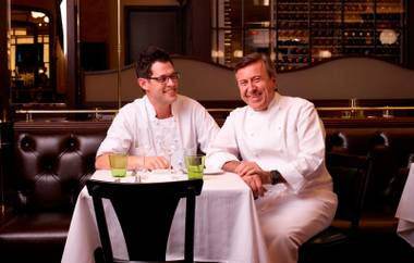 David Middleton and Daniel Boulud at DB Brasserie.