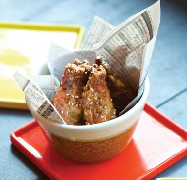 Yusho's addictive garlic-sesame drumsticks.
