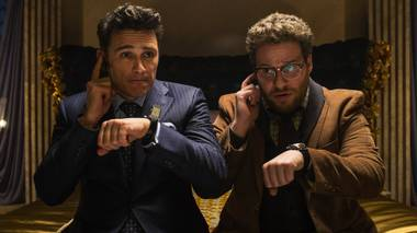 Spies like us: Franco and Rogen are in over their heads.