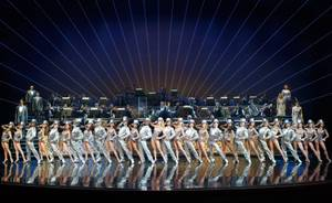 Cast members of 'ShowStoppers' perform 'One' from 'A Chorus Line.'