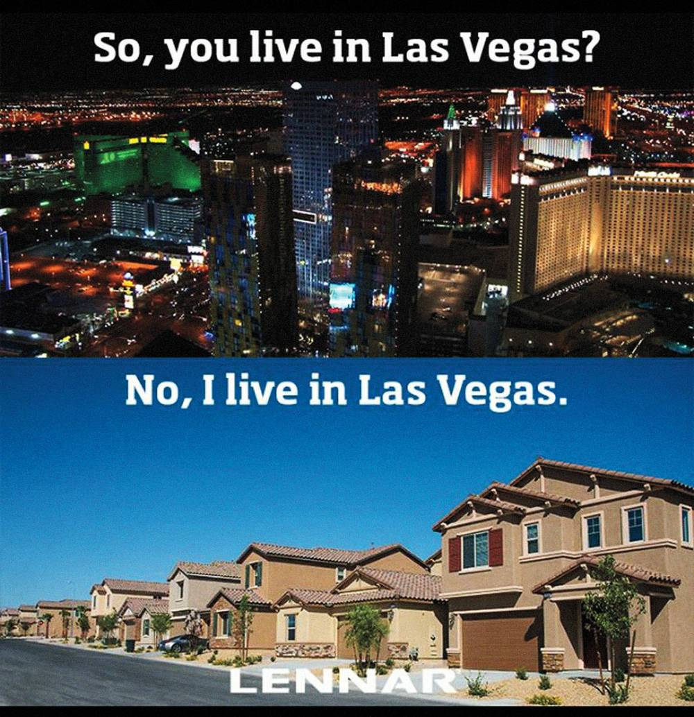 Which Vegas are you? Lennar Homes' social media ad draws a