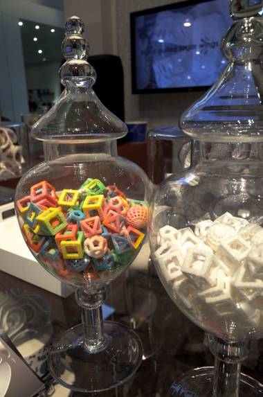 Sculptural sugar creations made with the ChefJet Pro 3D food printer.