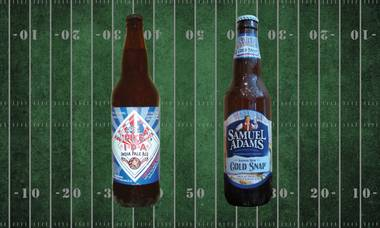 Super Bowl suds: Taste testing brews from Seattle and Boston. Which team's hometown takes the win?