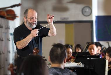 The Clark High School orchestra director was again named a top-10 finalist for the Grammy Foundation's Music Educator Award.