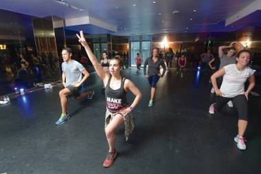 The 305 Fitness class, which combines a nightclub environment with high-interval training, recently landed at the hotel's pop-up space.