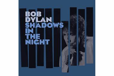 It's a self-produced collection of pop standards associated with Frank Sinatra, recorded live with Dylan's band without overdubs.