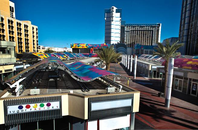 New look: The Grand Bazaar Shops at Bally's open on February 26.
