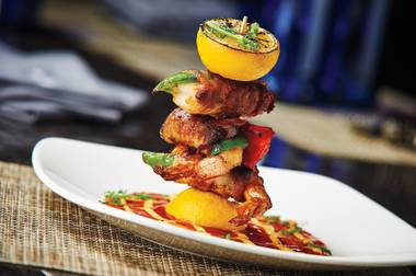 Bacon-wrapped shrimp at McCall's Heartland Grill are a flavorful thrill.