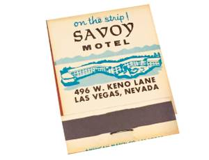 Matchbooks from the Savoy Motel