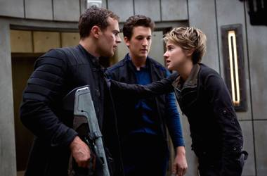 Tris spends most of the movie on the run, which isn't a bad thing.