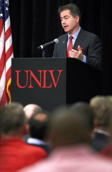 New UNLV president Len Jessup held a Campus Town Hall on March 12, revealing his plans for the university and fielding questions from students, faculty, staff and community members.