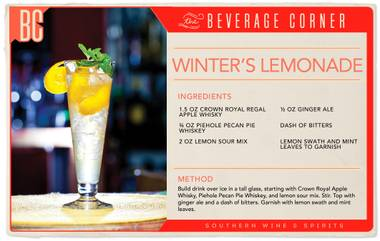 Our favorite flavors of winter combined with our favorite warm-weather drink.