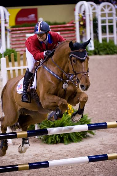 The Equestrian World Cup sets up at the Thomas & Mack Center this week.