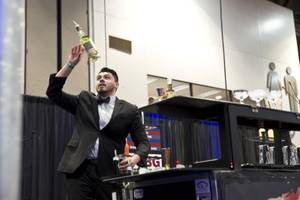 "Will Izaza competes in the ""Shake It Up!"" Flair Competition at the 2015 Nightclub & Bar Show, Tuesday March 31, 2015."