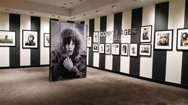 The Strip-side gallery space is currently exhibiting work by photographer Terry O'Neill.