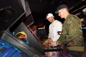 DJ duo Flosstradamus take time off from the tables at Insert Coin(s).
