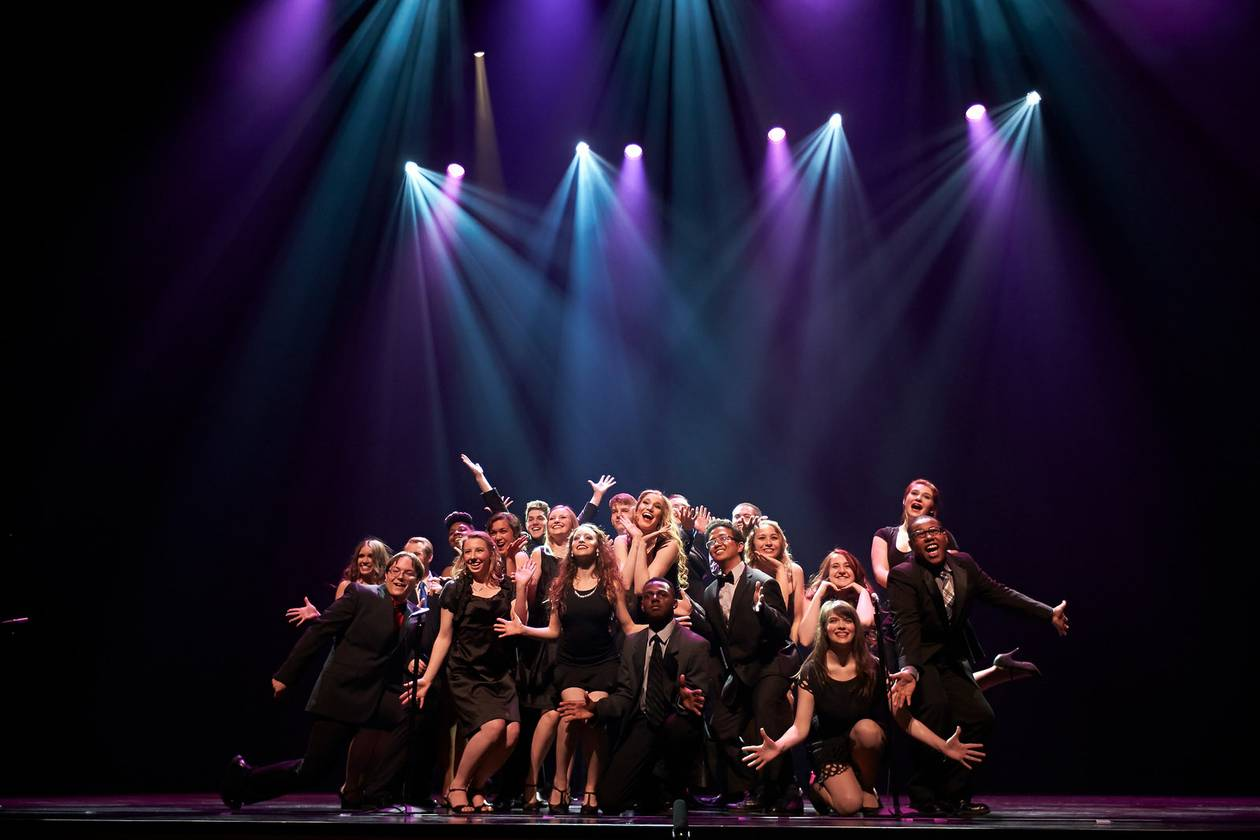 Students take the Smith Center stage Sunday for the Nevada High School Musical Theater Awards.