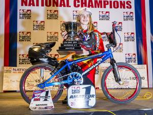 Speed racer: Local BMX racer Roman Jaworsky is the current points leader for the 2015 season.