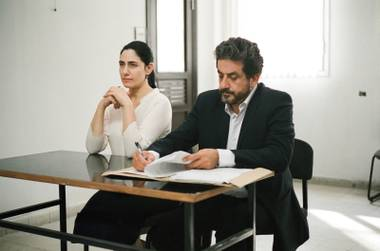 Focusing on a divorce, the entire movie takes place in an Israeli courtroom and the waiting area just outside.