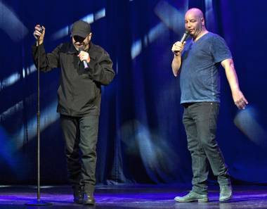 Fighting words: Attell and Ross doubled up on the trash talk.