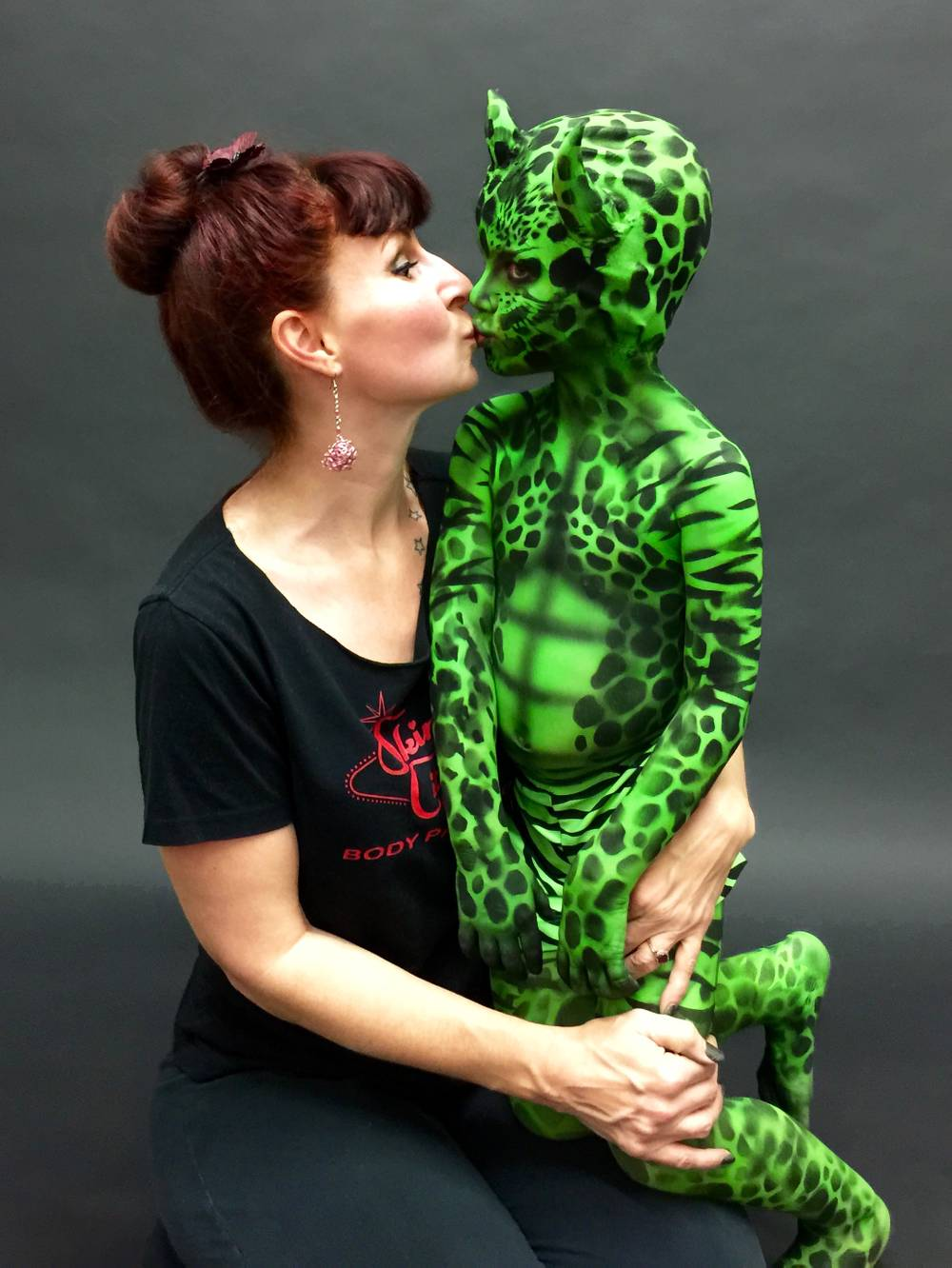 Robin Slonina And Her Son Post Paint