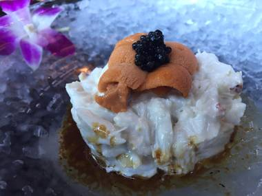 Blue crab tartare, a recent addition to the Sushi Roku menu.