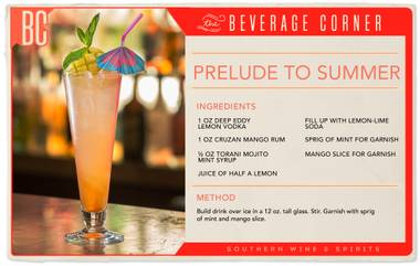 The first official day of summer is June 21, and while most of us here in Las Vegas have been celebrating summer's arrival since the pool clubs opened, we're dedicating this drink to the last, glorious days of spring.