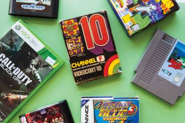 The Green Valley shop offers all kinds of old video-game systems, plus games for all of them.
