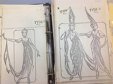 The museum just received two costume sketch books from the vintage Vegas show's 1981 launch.